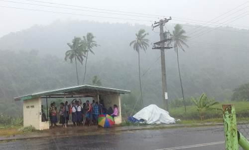 Navesau District School students returned home early today. Picture: VILIAME RAVAI