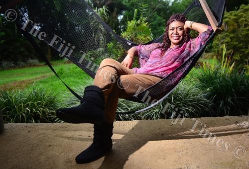 Vude Queen Laisa Vulakoro relaxing at her home in Wainadoi yesterday. Picture: JOVESA NAISUA