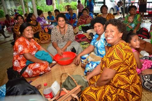 Members of the Matakibau family who have gathered in Suva today for their family reunion Picture: JOVESA NAISUA