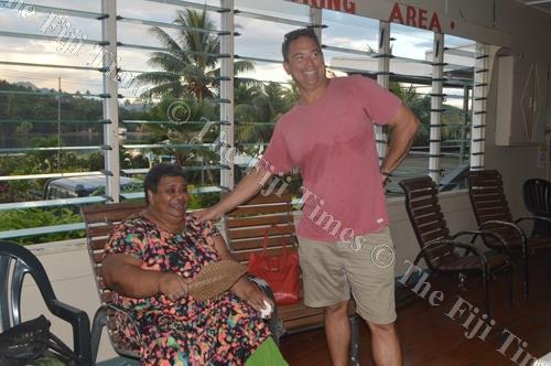 Justin Hunter with Rabesa Rolala, the head of yavusa Yaroi of Yaroi Village in Savusavu. Picture: SERAFINA SILAITOGA
