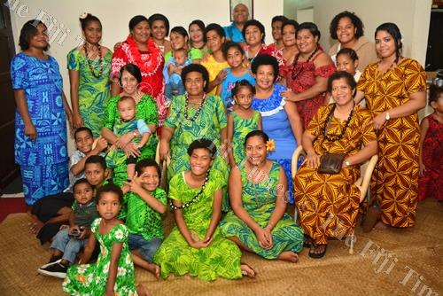 The members of the Matakibau family gathered in Suva yesterday to celebrate Easter. Picture: JOVESA NAISUA