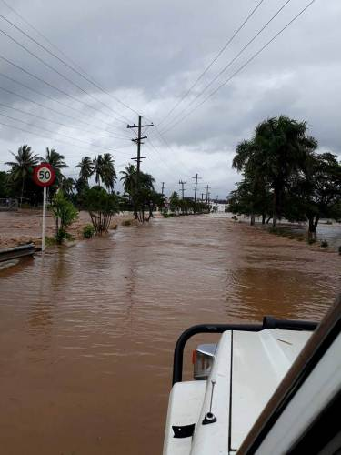 Most of Nadi town and surrounding surburbs are experiencing flooding right now. Picture: SUPPLIED/Tracey Farrington
