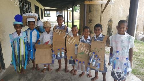 Year 1 and 2 students of Namamanuca Primary School pose with their World Water Day costumes. Even though World Water Day was celebrated on March 22, given the importance of water in our everyday lives, it is important that we think about its social and