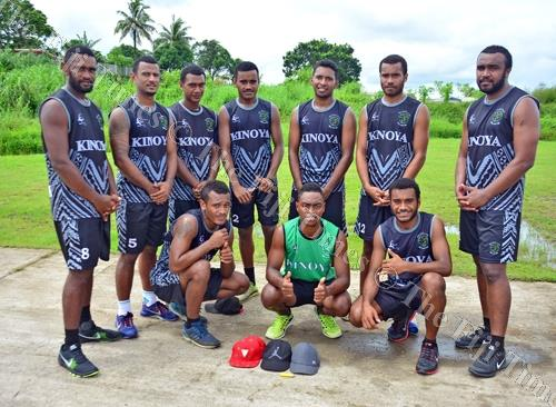 The Heartland Blacks volleyball team in Valelevu yesterday. Picture: JONACANI LALAKOBAU