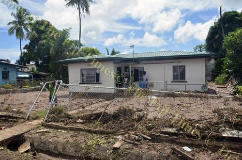 A damaged fence of this house at Yalalevu in Ba yesterday. FNPF members can apply for up to $1000 under the Natural Disaster Withdrawal Scheme. Picture: BALJEET SINGH