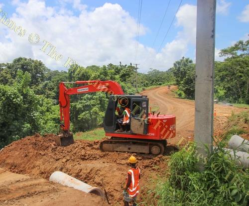 Fulton Hogan Hiways' workers upgrade the Tubalevu Rd. Picture Supplied