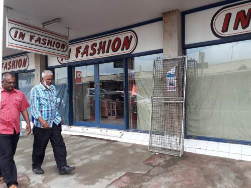 Flash floods have led to closed down of Shops in Labasa Town this morning. Picture Luisa Qiolevu.