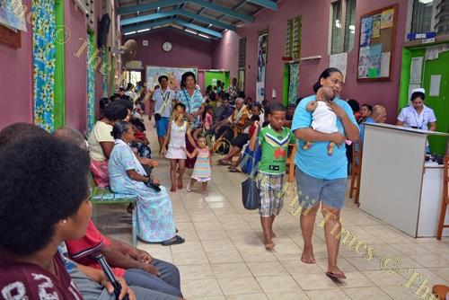 Patients wait to be seen by doctors at the Makoi Health Centre. Picture: FT FILE