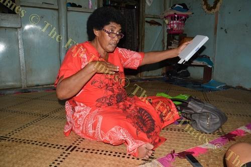 Asena Naicika at her home in Vitogo Village, Lautoka. Picture: REINAL CHAND