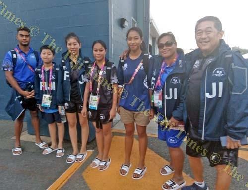Members of the Fiji table tennis team. Picture: MAIKELI SERU