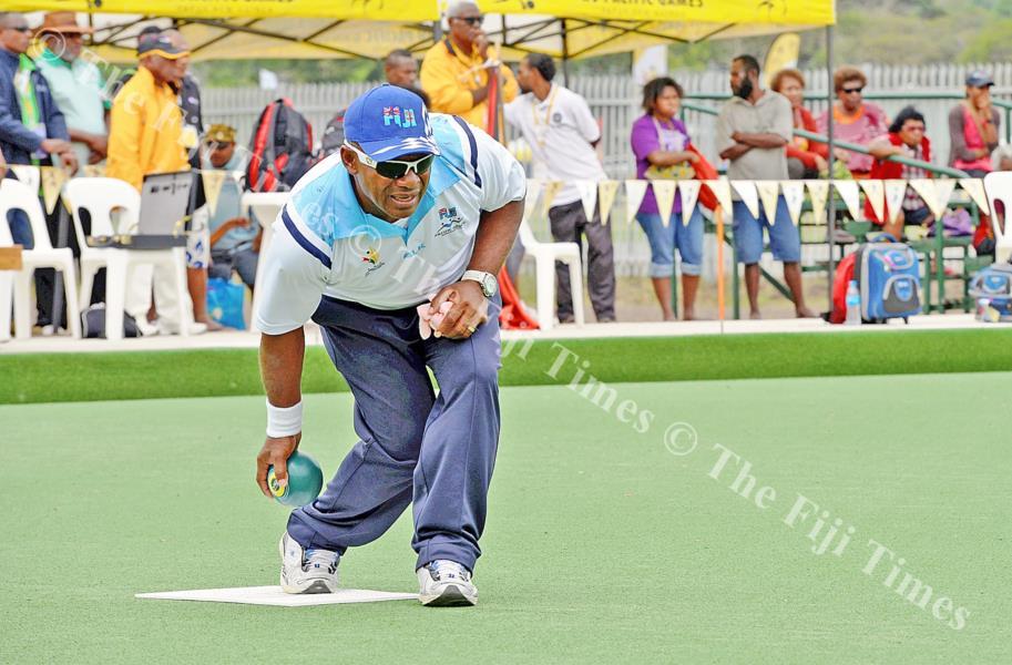 Semesa Naiseruvati lines up his shot. Picture: FT FILE