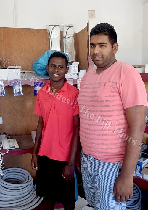 Ravi Sushil, right, with Vinal Vineet Deo in Navua. Picture: SOPHIE RALULU