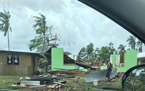 Damage from Cyclone Gita in American Samoa. Picture: Twitter/ Aumua Amata