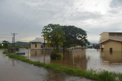 All Saints Secondary School was affected the flood last week in Labasa. Picture SERAFINA SILAITOGA (2)