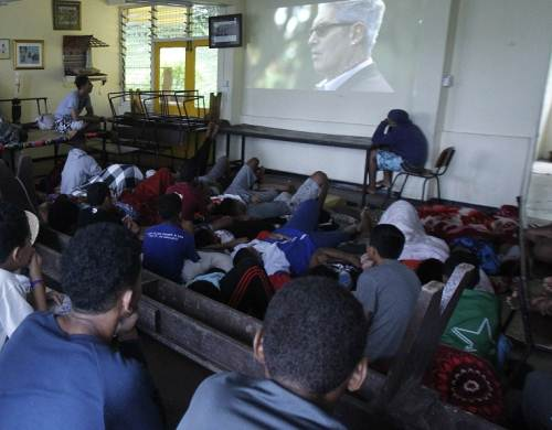 MBHS boarders at the Ratu Mara Hostel ground floor earlier today. Picture: ATU RASEA