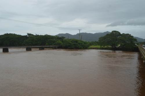 The Labasa River continues to rise and DPO North Uraia Rainima has asked everyone in low-lying areas to move to evacuation centres. Picture LUISA QIOLEVU