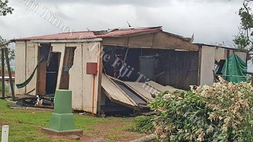 Damaged houses at Namara Village in Sanima on Kadavu. Picture: SUPPLIED