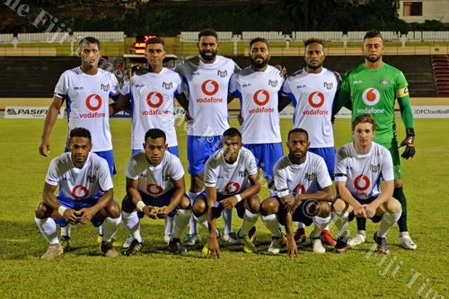 Lautoka soccer team before their match against AS Dragons. Picture: FIJI FA MEDIA