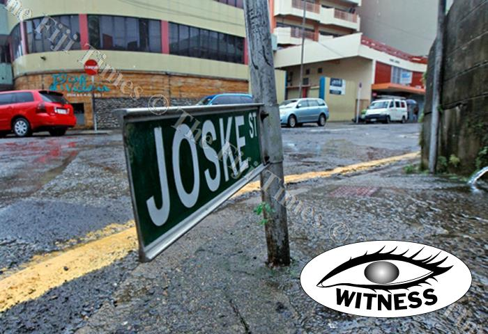 This Joske St road sign has been in state for sometime. Picture: JONACANI LALAKOBAU