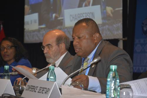Fiji's Minister for Agriculture Inia Seruiratu speaks during the 34th Session of the FAO Asia Pacific Regional Conference in Nadi today. Picture: REINAL CHAND