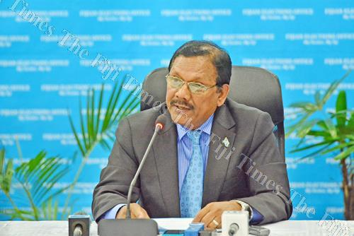 Chairperson of the Electoral Commission Suresh Chandra. Picture: JOVESA NAISUA
