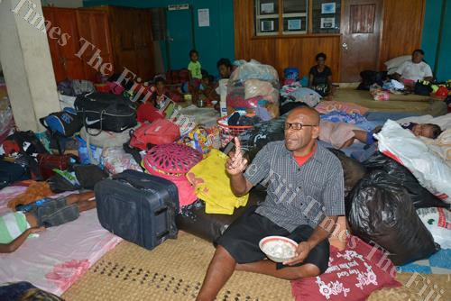 Pastor Manueli Savou with evacuees from Vunato Settlement take shelter at the Coronation Church in Lautoka. In assisting victims of the recent natural disasters, Westpac Bank has announced a special disaster relief package for its affected customers. Pic