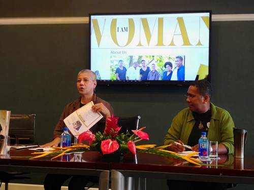 Lorraine Foster and Fay Volatabu, the women behind 'I am Woman', a new magazine which entered the market today. Picture: LICE MOVONO
