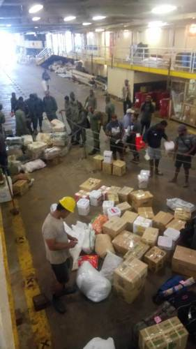 Government officials arrive in Kadavu with relief supplies for victims of Severe Tropical Cyclone Keni. Picture: SIKELI QOUNADOVU
