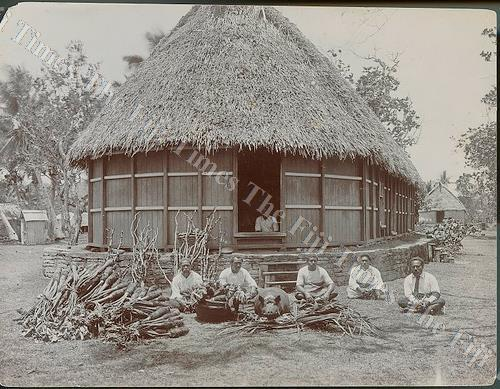 Left: Tubou, Lakeba Lau in the early 1900s. Picture: Matavuvale Network