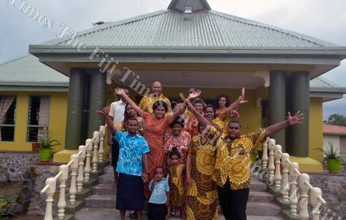 Men and women from Levuka, Nabukelevu on Kadavu celebrate after the official opening of the Nakelo House last week. Picture: BALJEET SINGH
