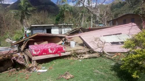 Homes that were flattened by STC Keni in Namuana, Kadavu. Picture: SIKELI QOUNADOVU