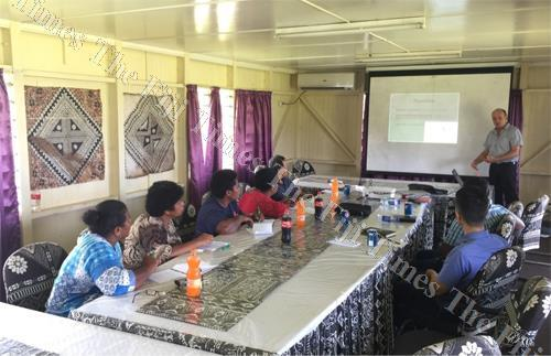 Members of the Fiji Pig Farmers Association during a nutrition training at the Ministry of Agriculture's animal health and production headquarters at Vatuwaqa in Suva. Picture: SUPPLIED