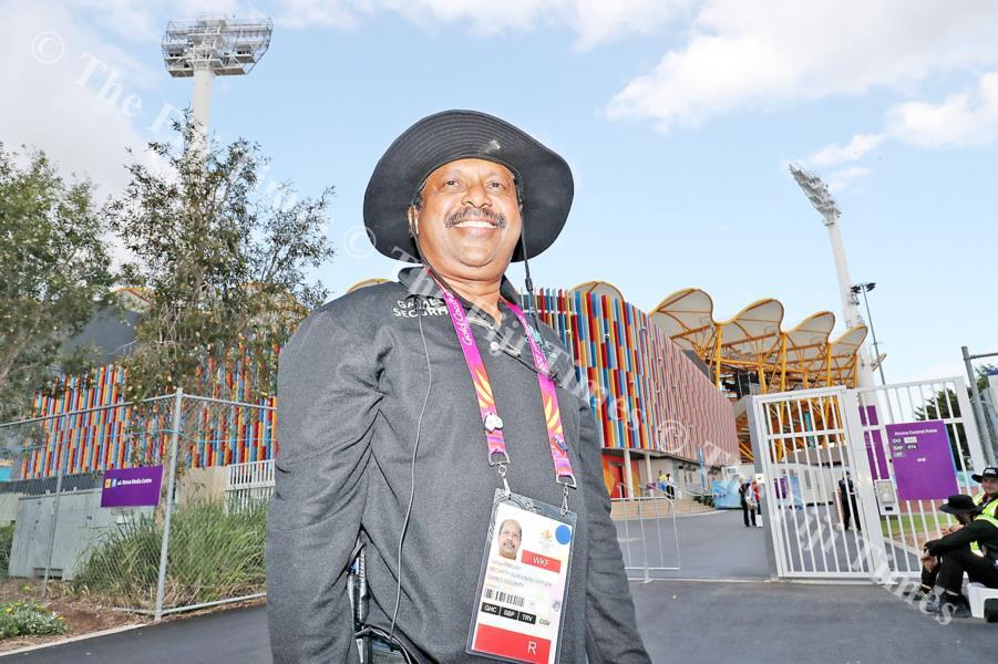 Former Fiji resident, Professor Ganga Prasad a security at the 2018 Commonwealth Games in Gold Coast, Australia. Picture: ELIKI NUKUTABU