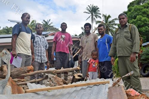 Dagai villagers with government officials pose for a photo. Picture: SIKELI QOUNADOVU
