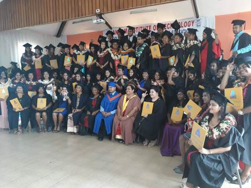 The 78 registered nurses who graduated with their bachelors degree today. Picture: ALISI VUCAGO